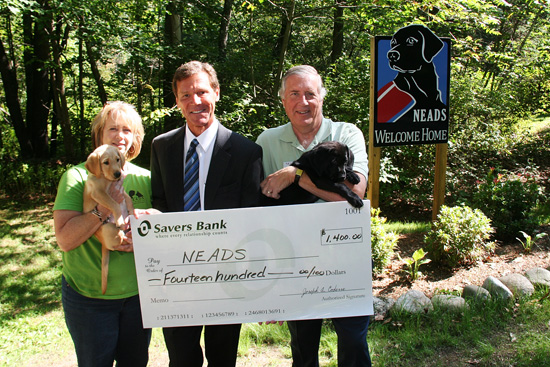 Savers Bank Donates $1400 to NEADS