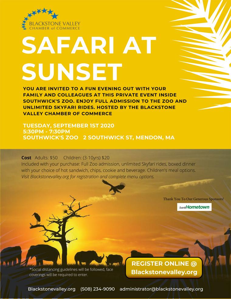 Safari at Sunset Flyer