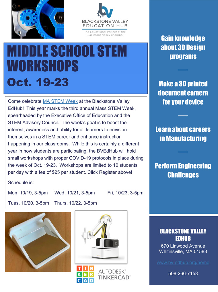 EdHub Middle School STEM Workshops