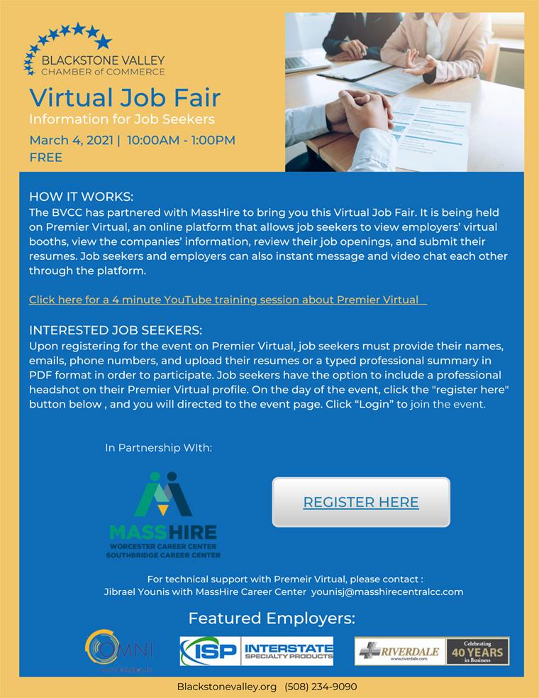Job Fair 3/4/21